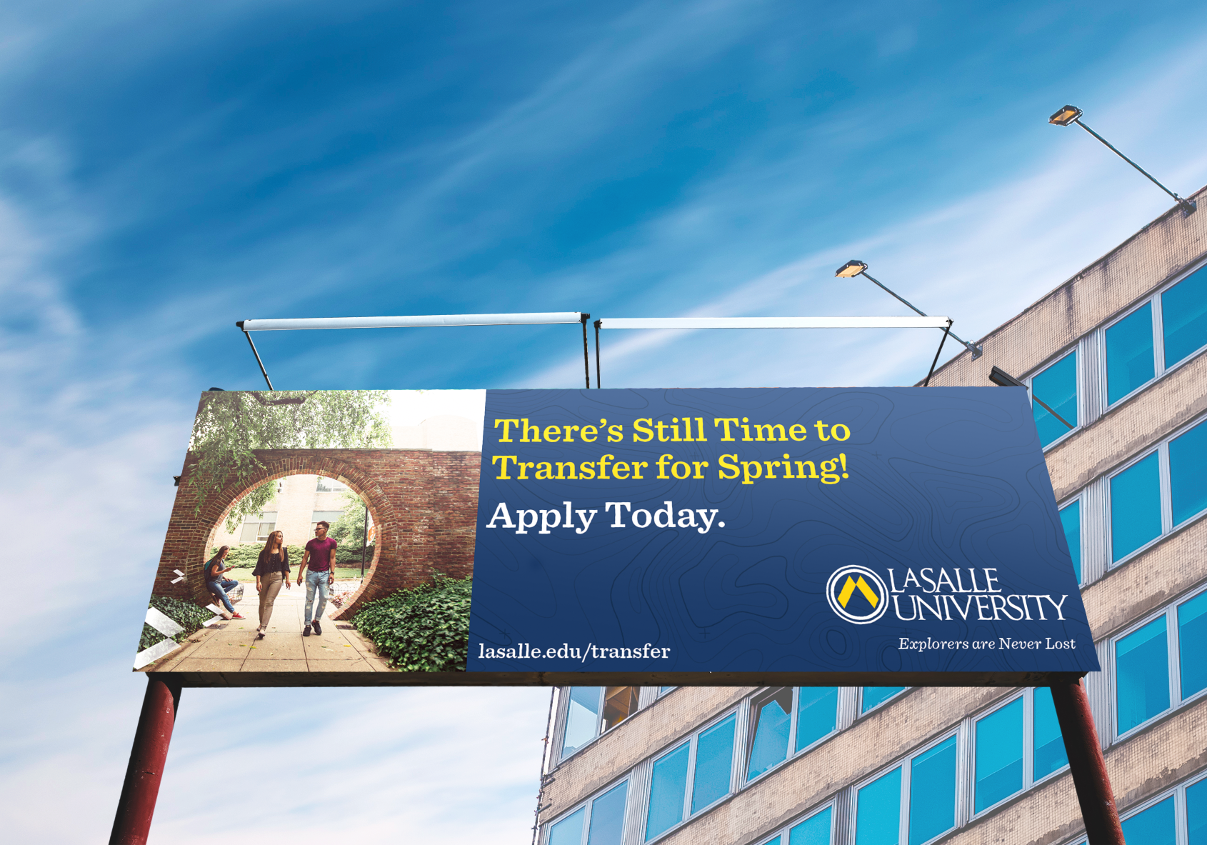 Transfer Admissions Billboard for La Salle University