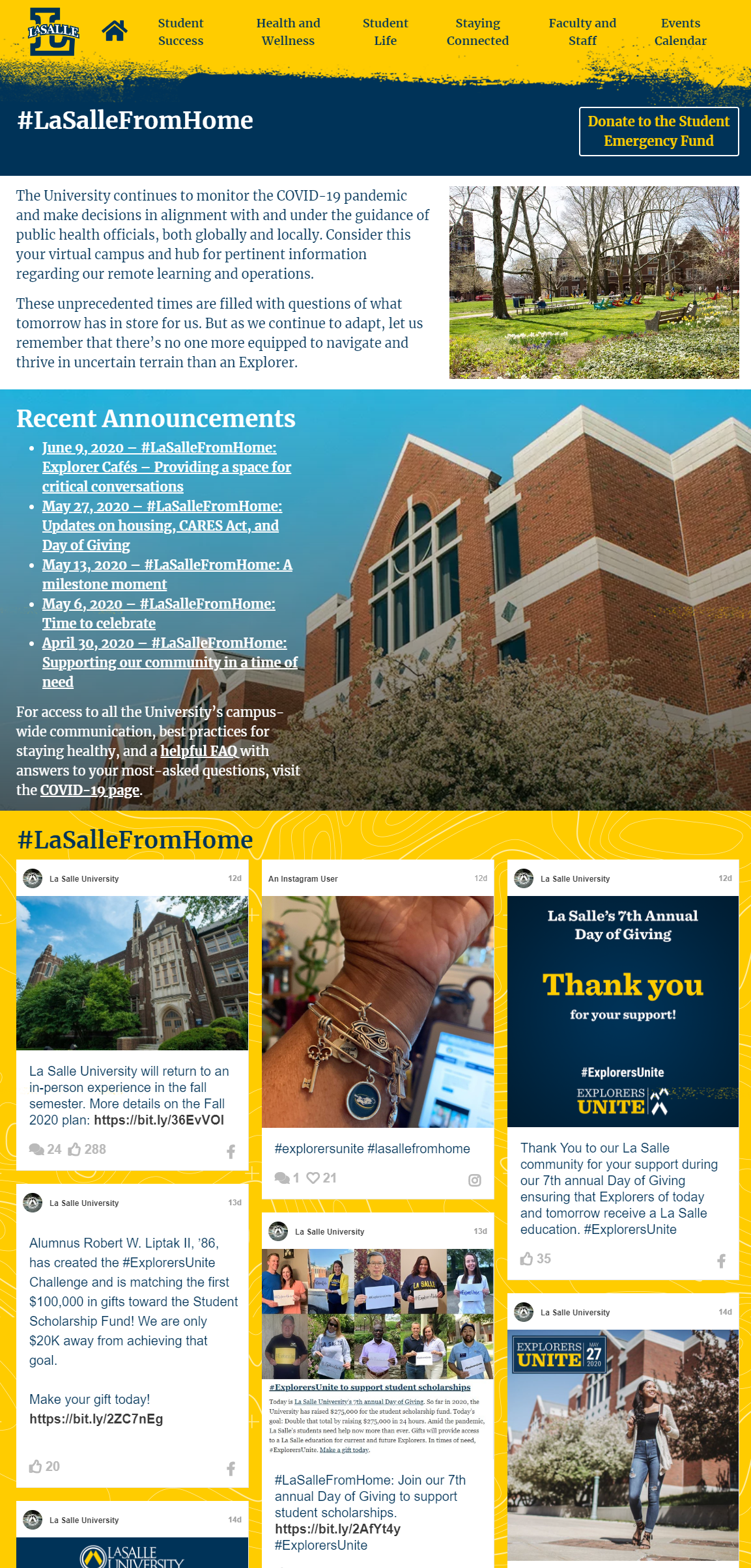 Virtual Admissions Information Session Website